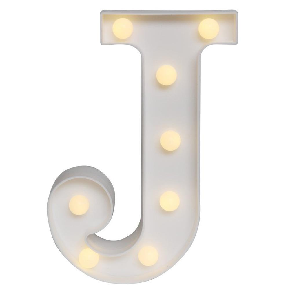 Led Marquee Letter Lights Alphabet Light Up Sign For Wedding Home Party Bar Decoration J By Jonesmayer.