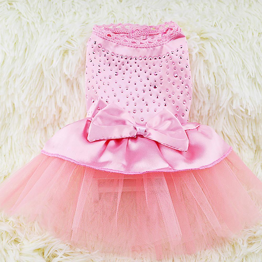 Lb Dog Clothes Pet Puppy Tutu Dress Princess Fluffy Hot Drilling Wedding Lace Skirt Clothing Apparel Xl By Live Birds.