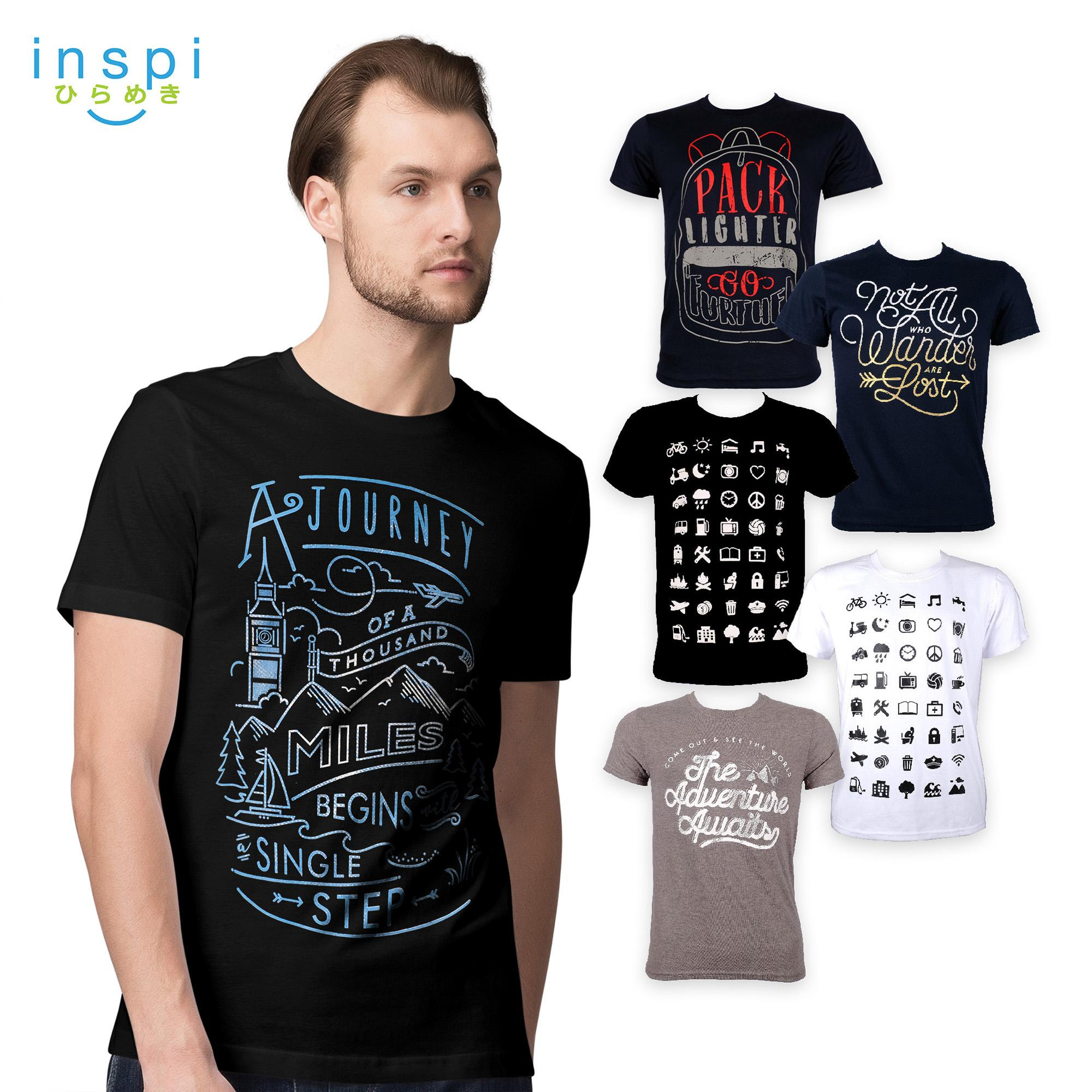 80a5ba1e7180 INSPI Tees Travel Collection tshirt printed graphic tee Mens t shirt shirts  for men tshirts sale