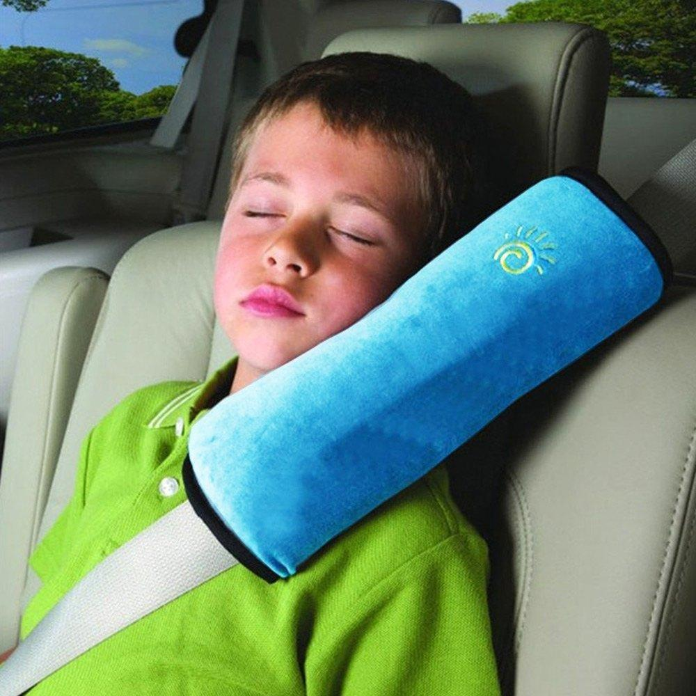 Autos Pillow Car Safety Belt Protect Shoulder Pad Vehicle Seat Belt Cushion For Kids (blue) By Usje Trading.