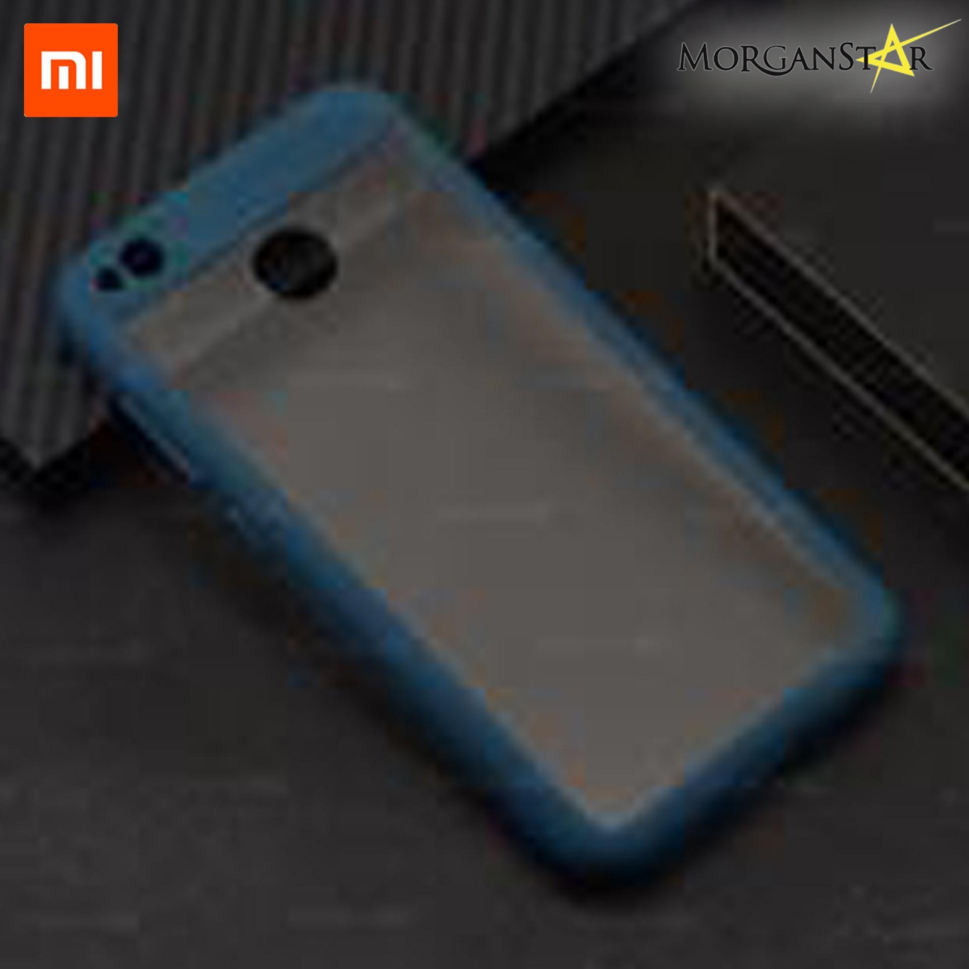 Xiaomi Redmi 4X Transparent Cover With Rubber Bump Case (Blue)