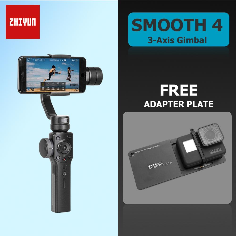 Zhiyun Philippines Price List Monopod Stabilizer For Tech Smooth Q Smartphone Gimbal 4 3 Axis Smart Phone And Action Camera With Plate