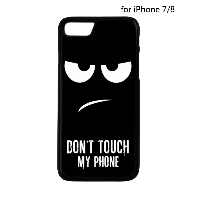 Dont Touch My Phone Protection Mobile Phone Back Cover Case for iPhone 4 4S 5 5S