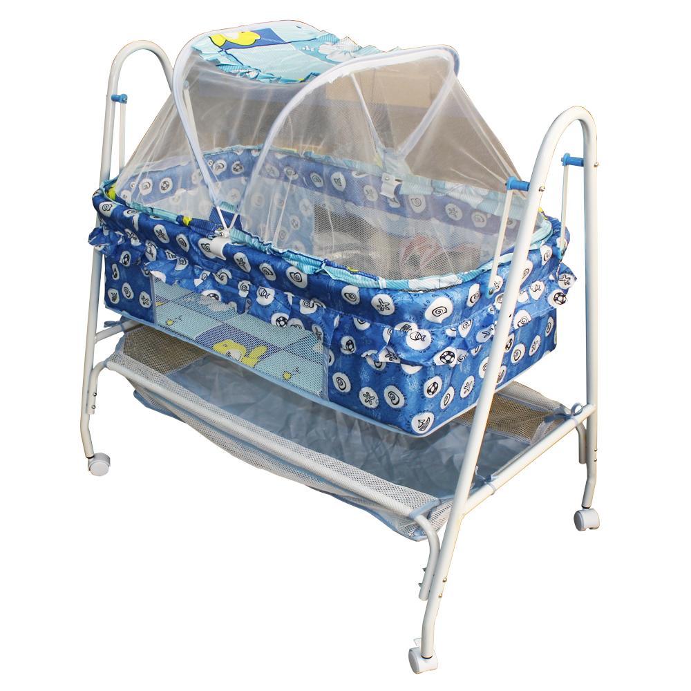 Incredible Baby Swing Cradle With Mosquito Net And Compartment Blue Inzonedesignstudio Interior Chair Design Inzonedesignstudiocom