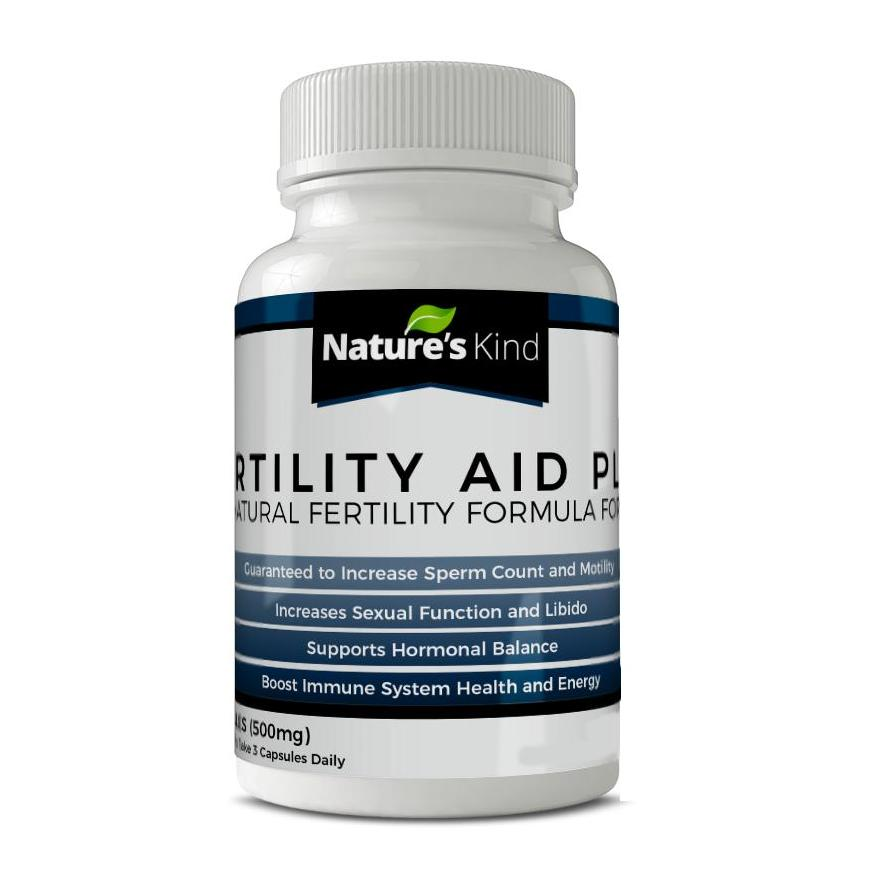 Fertility Aid Plus For Men - Guaranteed To Increase Sperm Count And Motility In Males By Organic By Nature.