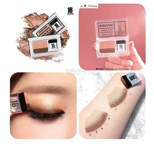 Eye Shadow Kit 16 BRAND Eye Magazine Eye Shadow Quick and Easy Eyeshadow Kit with Brush 2.5g Philippines