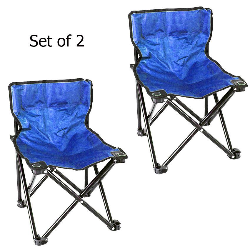 Magnificent Lightweight Folding Directors Chairs W Carrying Bag Set Of 2