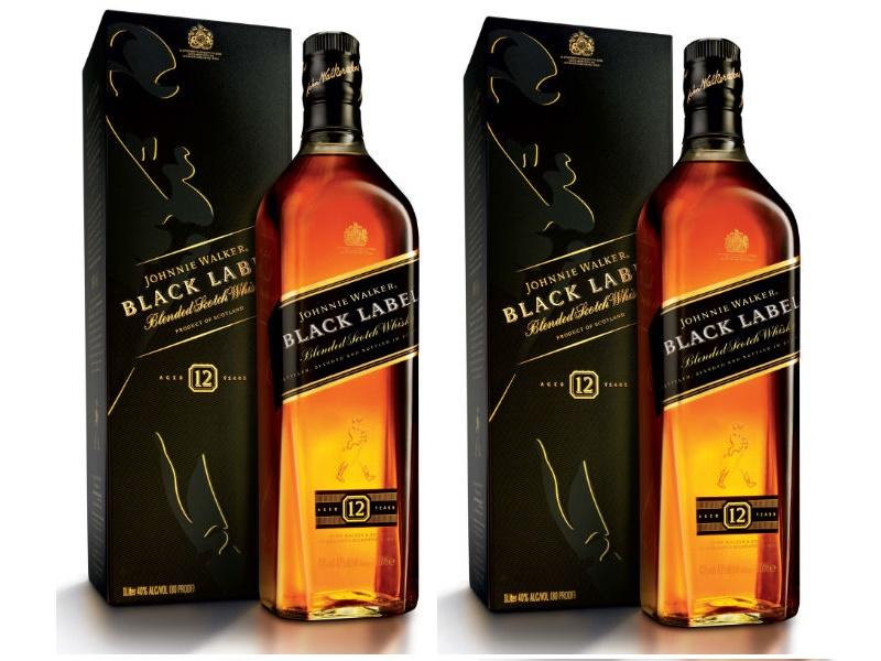 Black Label Price >> Johnnie Walker Black Label 1l Set Of 2 Free Shot Glass
