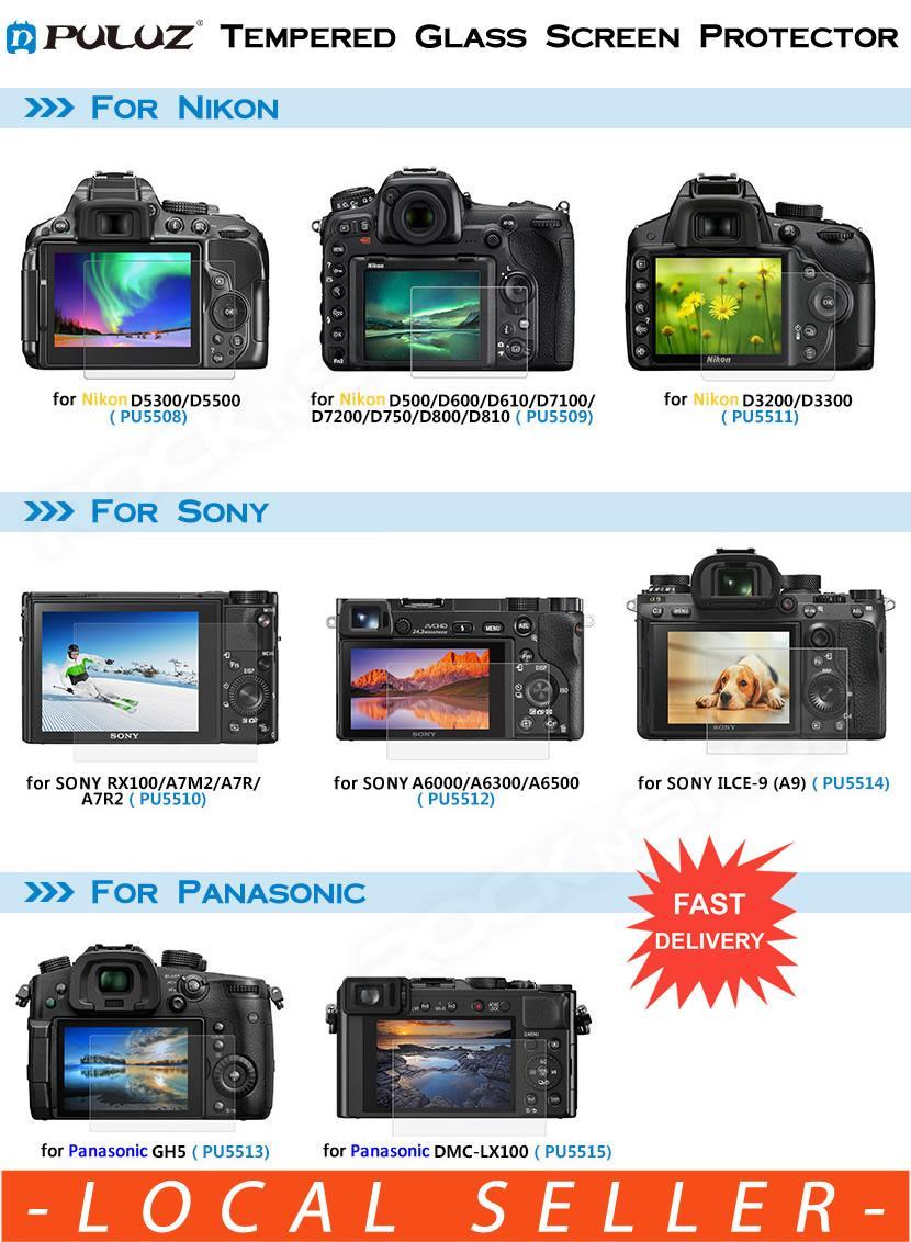 Camera Screen Protectors For Sale Guard Prices Fujifilm Xt10 Puluz Glass Protector Nikon Sony Panasonic D5300 D5500 D5600 D500 D600 D610 D7100 D7200
