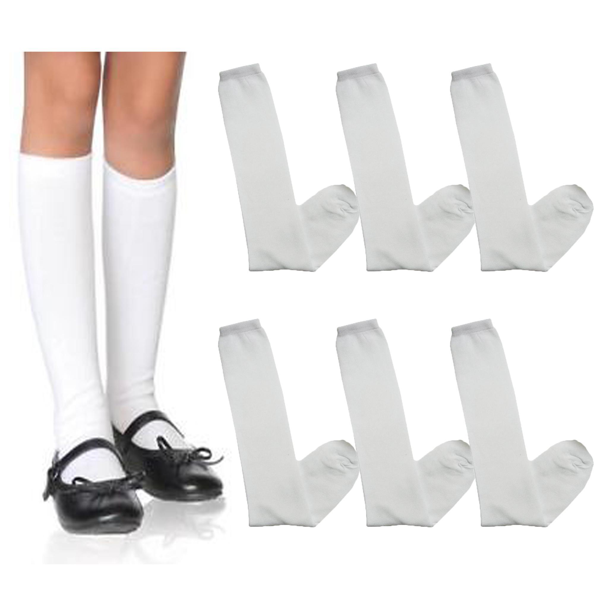 788e171e077 3 Pairs Knee High Socks Kids Girls Long Tube Socks School Socks (one size)