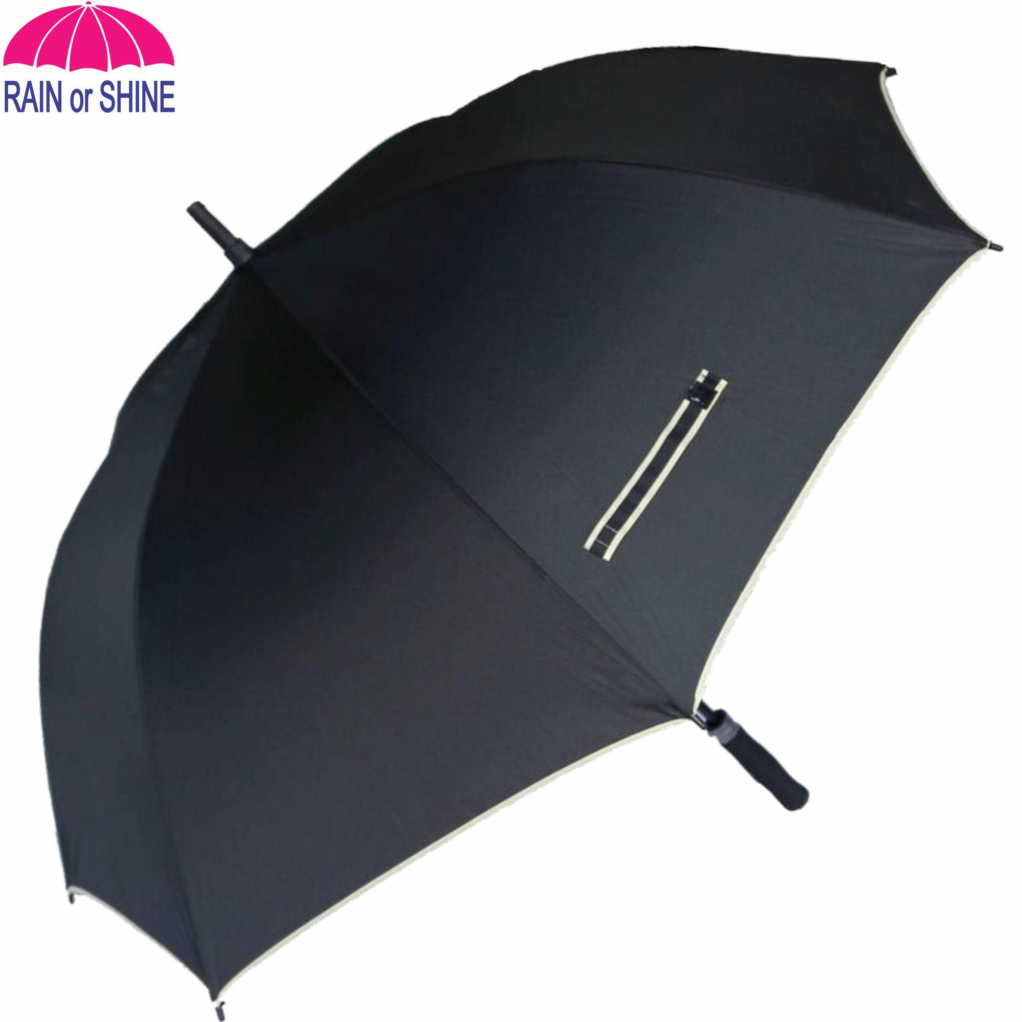 Rain Or Shine 184blk High Quality Golf Umbrella, Fiberglass Ribs And Shaft 64-In Diameter Straight-Type (black) By Umbrella Rain Or Shine.