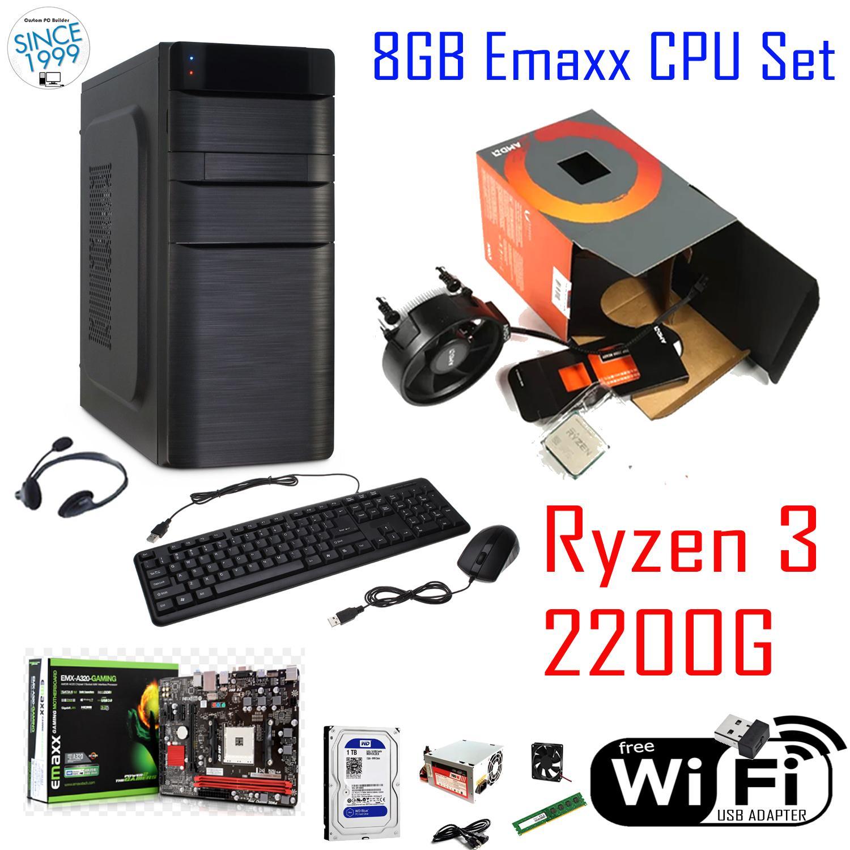 Gaming Pcs For Sale Computers Prices Brands Specs In 1 Set Komputer Cpu Emaxx 8gb Amd Ryzen 3 2200g 4 Core 35ghz Raven Ridge