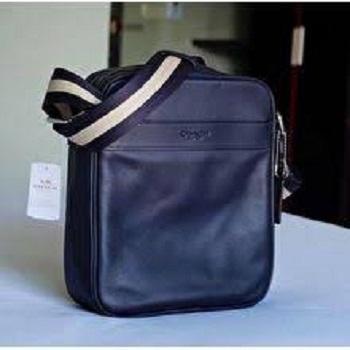 cafb5af64653 Coach Sling Bag - F54782 Charles Flight Bag In Smooth Leather - Navy Blue