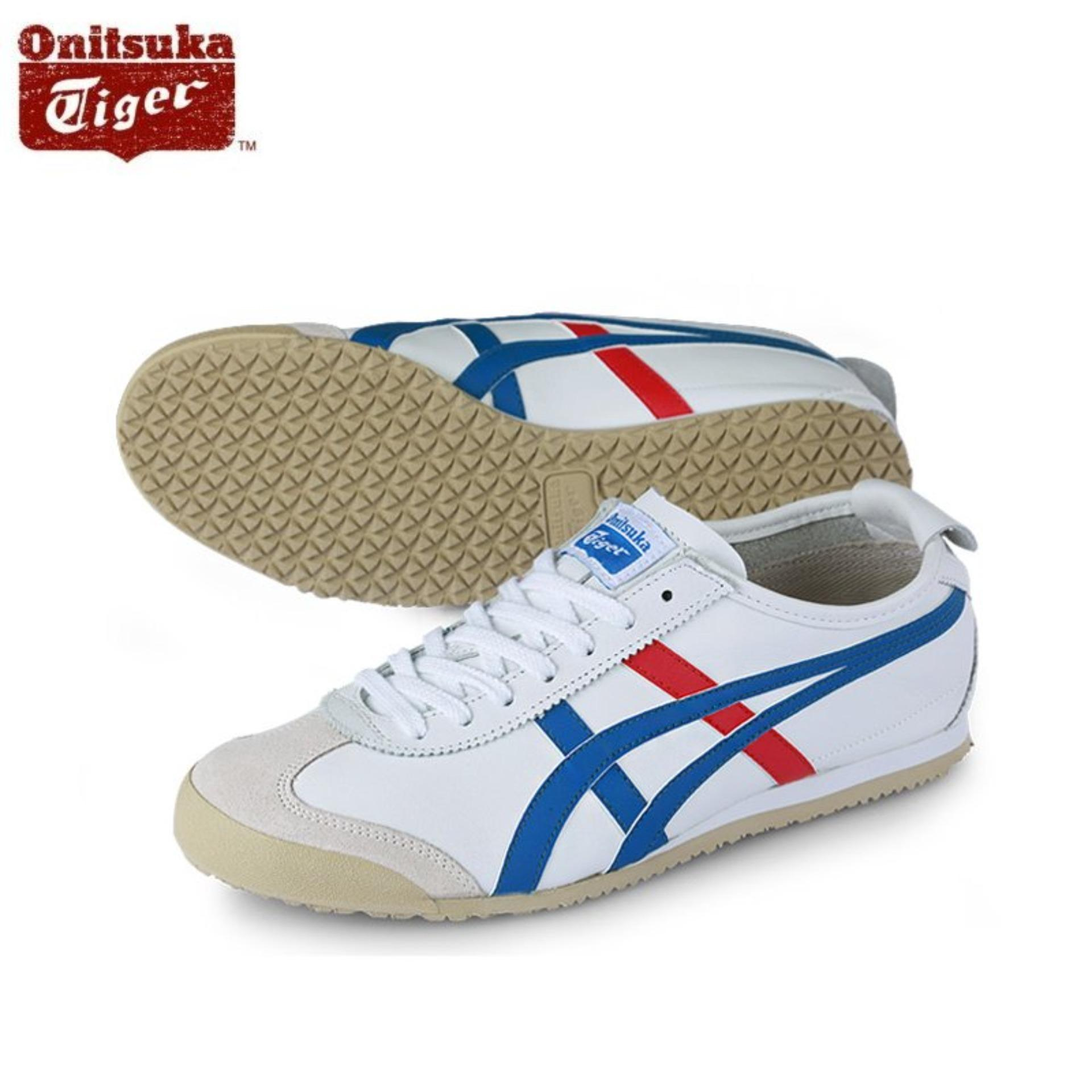 the latest 34925 7b02c Onitsuka Tiger Mexico66 White / Blue DL408_0146 100% Original