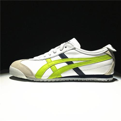 "Asics Official ""ONITSUKA TIGER"" Mexico 66 Deluxe White Green Running Shoe  WOMENS Discounted 96c9ce7e7"