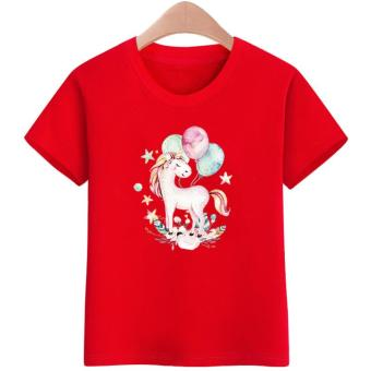 3 to16 yrs. old Unicorn kids T-Shirts Designs for Boys&Girls T-Shirts Cotton Short Sleeve Summer Kids Tops Tee T-Shirts