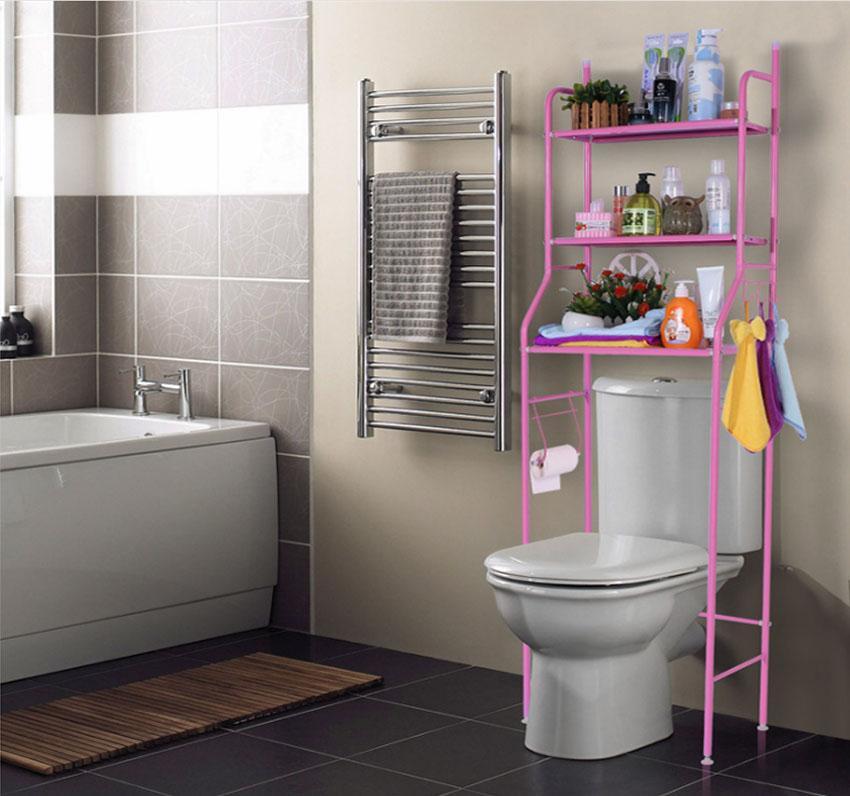 Smart Organizer Bathroom Over Toilet Storage Rack
