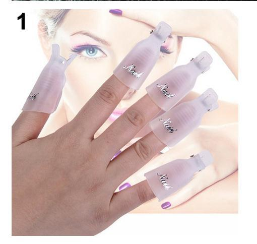 Nail Art Soakers with Cap Clip for UV Gel Polish Remover Wrap Tool Philippines