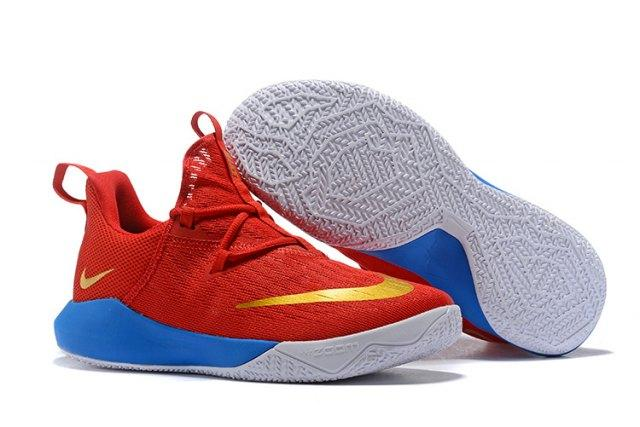 82665bde069d ... italy hot selling nike hyperdunk low 2018 october red gold blue white  mens basketball shoes e1fd6