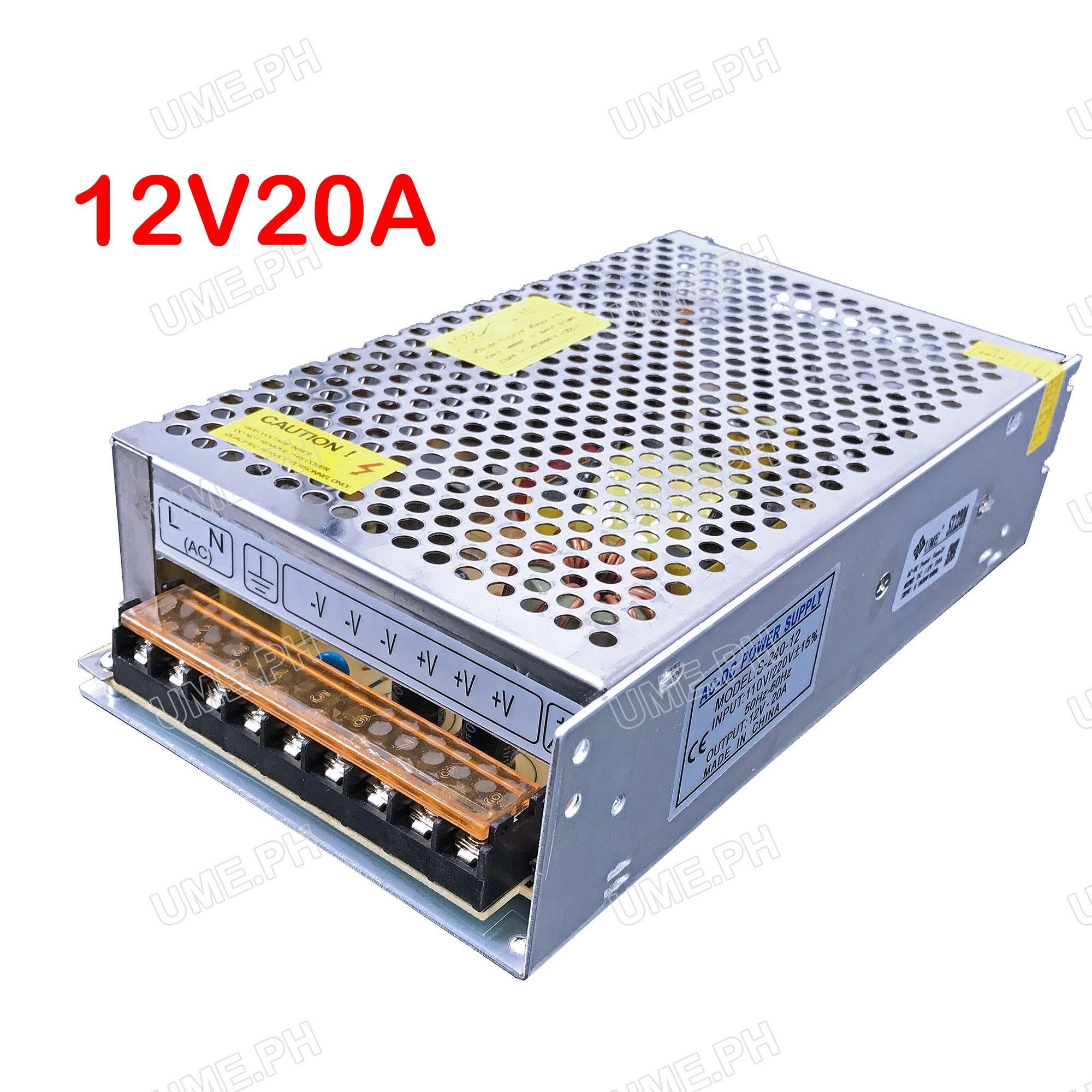 Pc Power Supply For Sale Computer Prices Brands Powerfull 12 V 10 Ampere Ume Cctv Centralize Adapter Dc 12v 20a S1220a