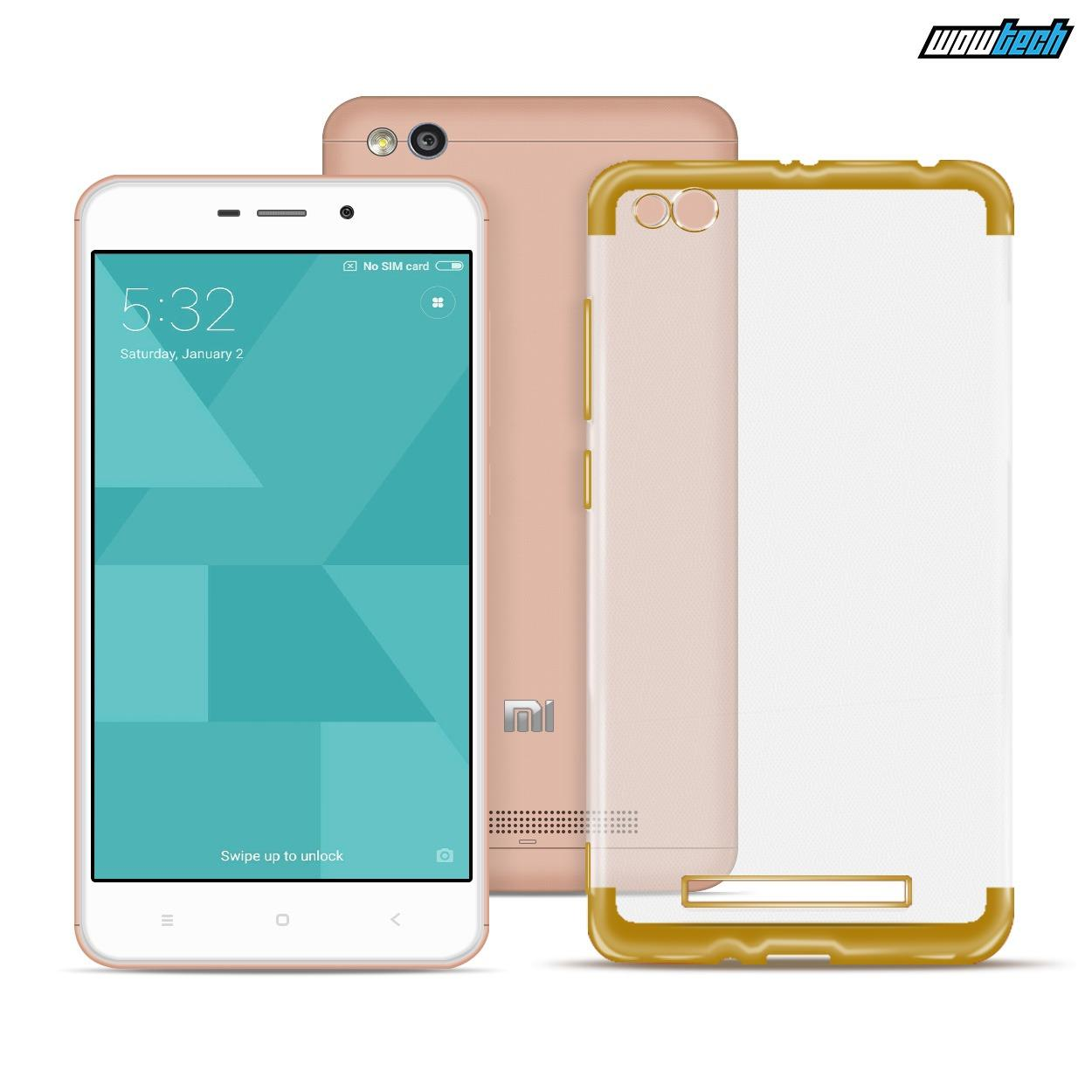 Ace Soft TPU Jelly Case v.2 for Redmi 4A (Gold Clear)