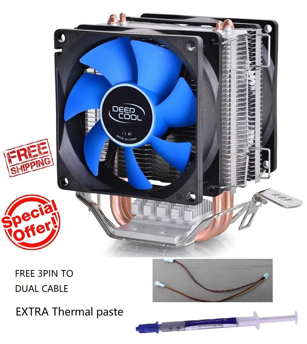 Buy Sell Cheapest Cooling Fan Cpu Best Quality Product Deals Processor Lga 775 Original Deep Cool Mini Dual Heatpipes Computer Quiet Fans Deepcool For Lga1150