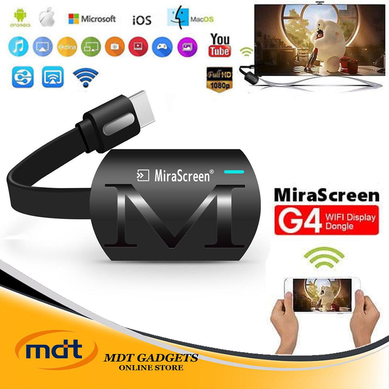 MIRASCREEN G4 WiFi Display HDMI Dongle Receiver Support Miracast Airplay DLNA