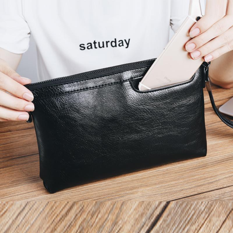 Light Business Men s Handbag IPAD Package Versatile Simple Envelope Clutch  bag bags Korean Style Street Hide 70ad13b30a