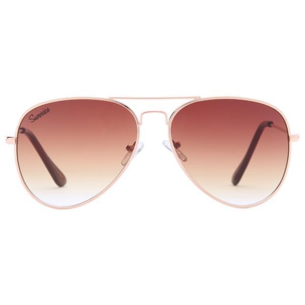276bb6df815 Sunnies Studios Taylor Pilot Sunglasses for Men and Women (Goldrush Mirror)