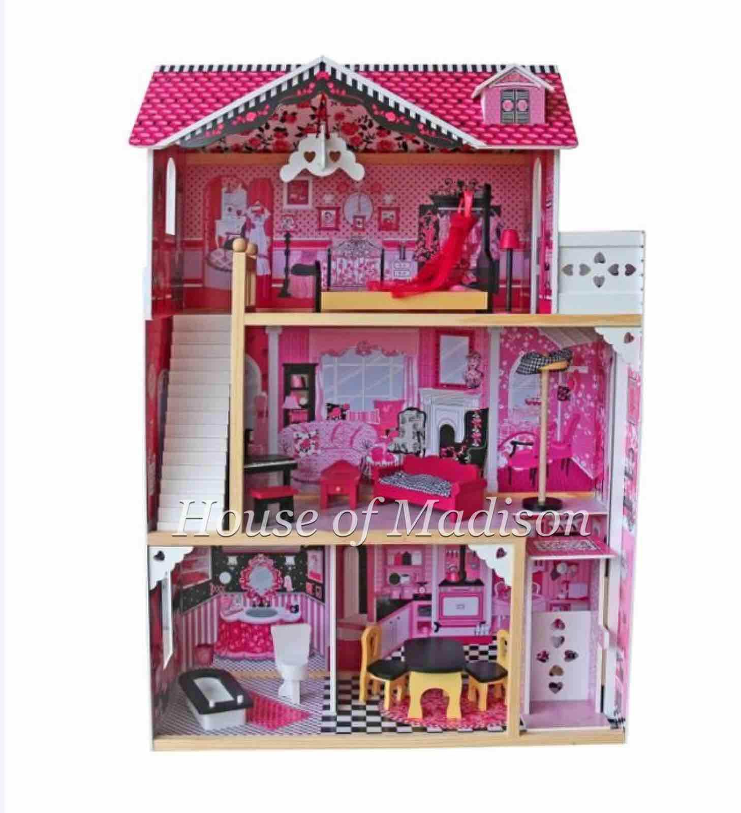 Wooden Toy Amelia Dollhouse Mansion