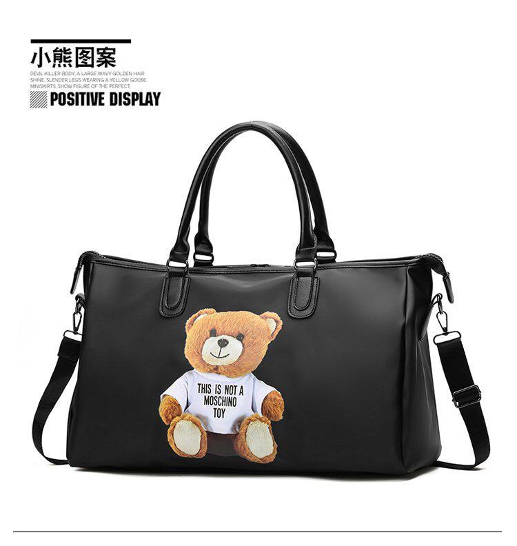 e26ff4c8e6e3 Abby Shi Designer Cute Cartoon Bear Fitness Print Gym Sports Bag Shoulder Bag  Handbag Women s Crossbody