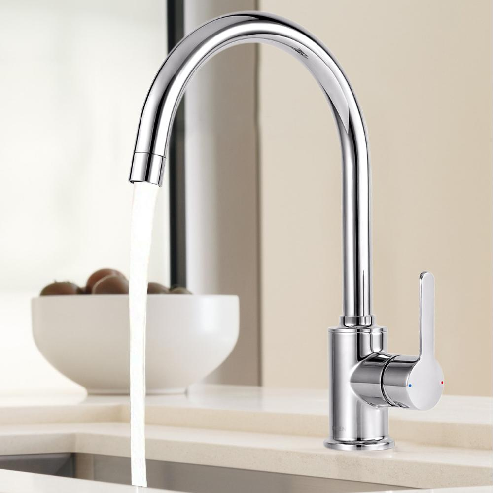 Moen Essence 70211 Chrome Finish High Arc Kitchen Faucet Hot and Cold One Lever Handle