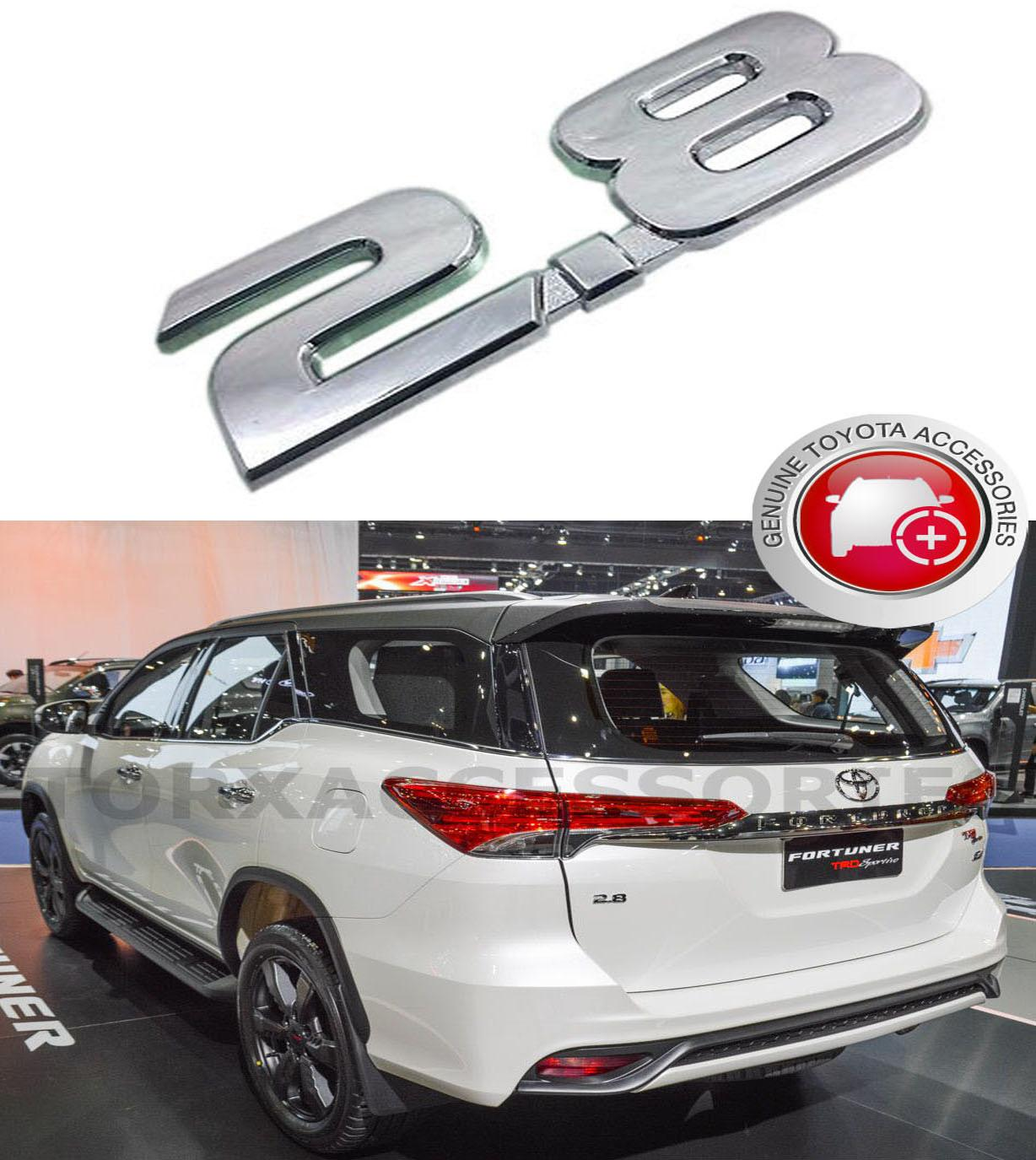 Genuine 2.8 Emblem For Toyota Fortuner 4x4 2016 - 2019 By Torxaccessories.