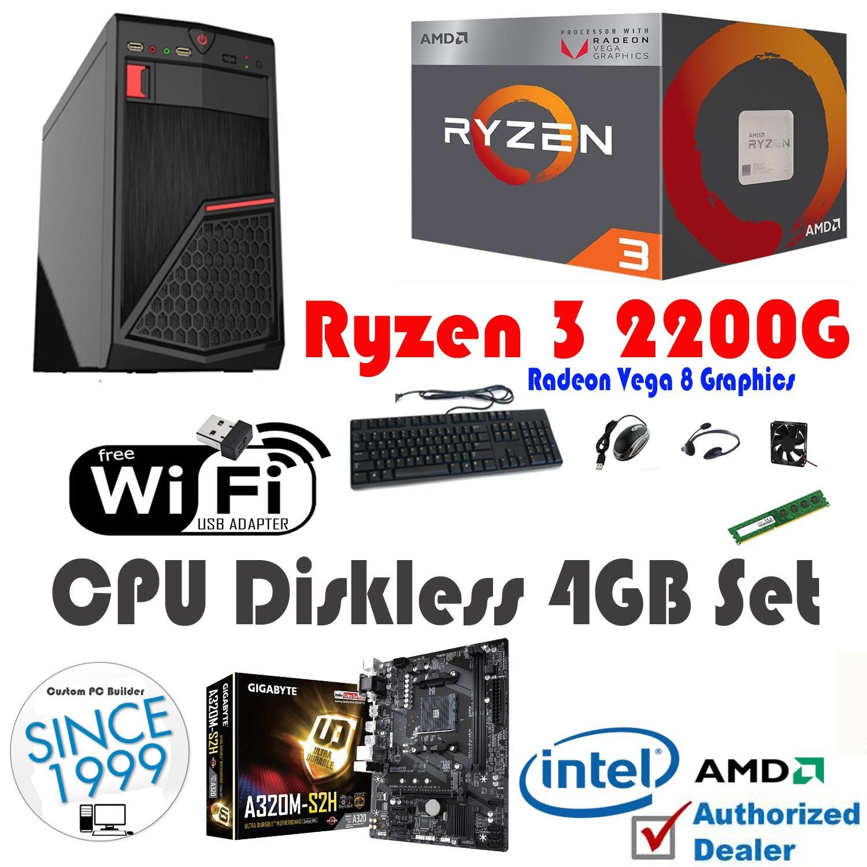Cpu Diskless 4gb Amd Ryzen 3 2200g Quad Core 3 5 Ghz Philippines