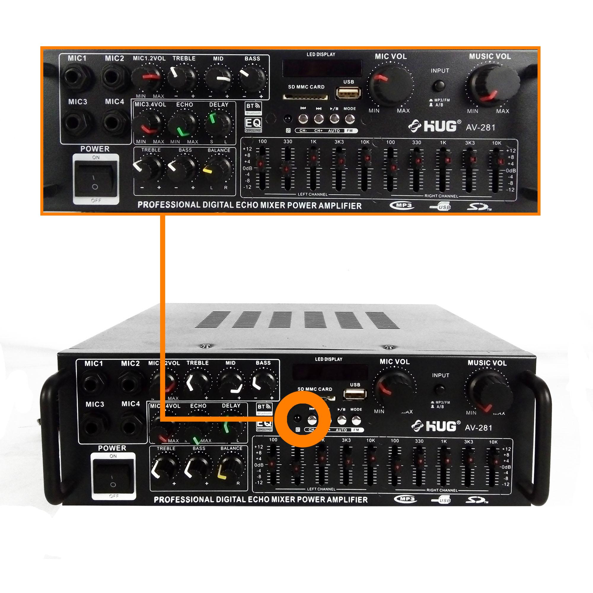 Audio Amplifier For Sale Av Receiver Prices Brands Specs In Dictionary Of Electronic And Engineering Terms Mixer Circuit Hug Professional Digital Echo Power Av281