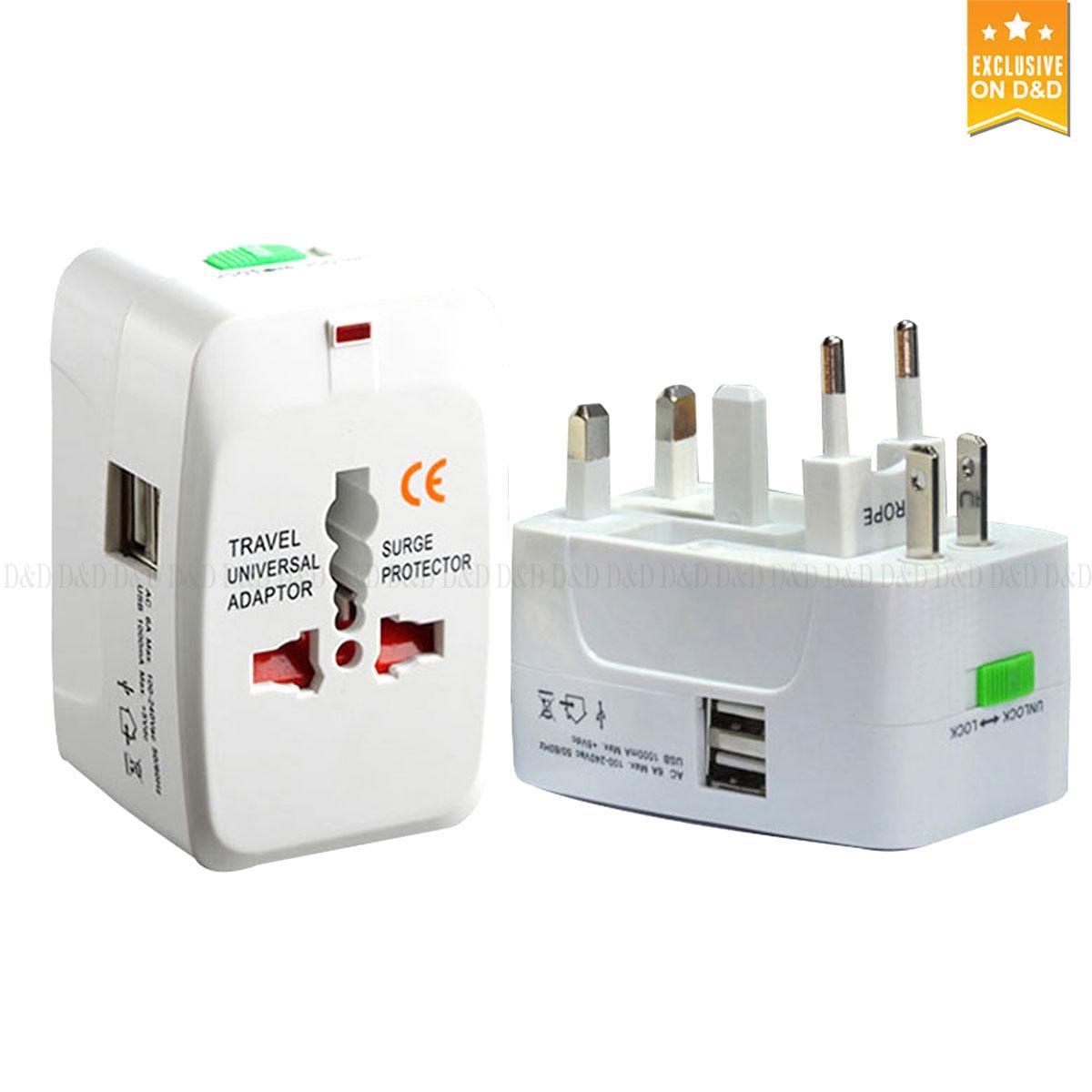 24d7d2ab2cf All in One Worldwide Travel Adapter AU UK US EU Power Plug Universal Wall  AC100-
