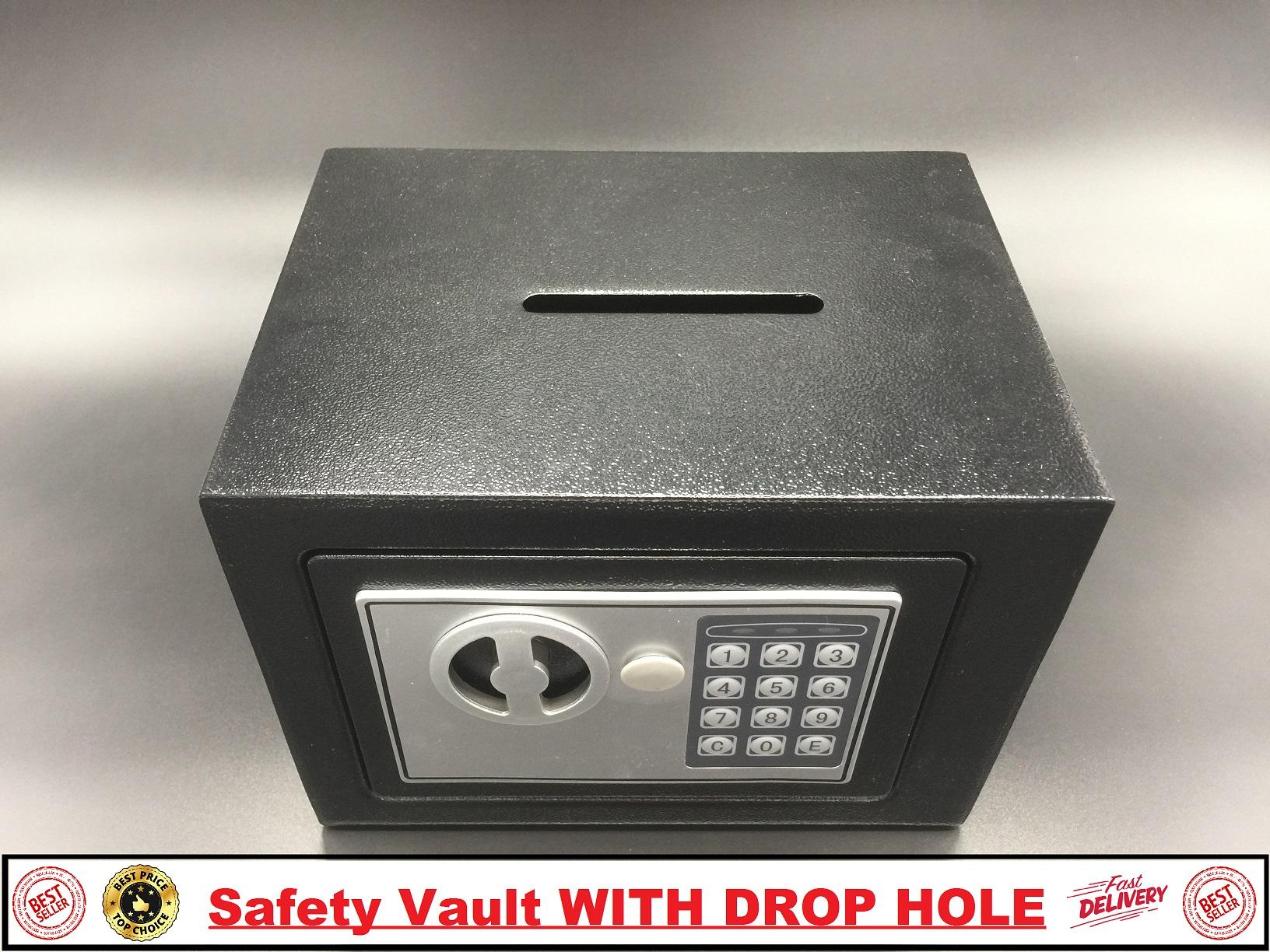Safety Vault with Drophole (FREE waterproof pouch) security drop hole