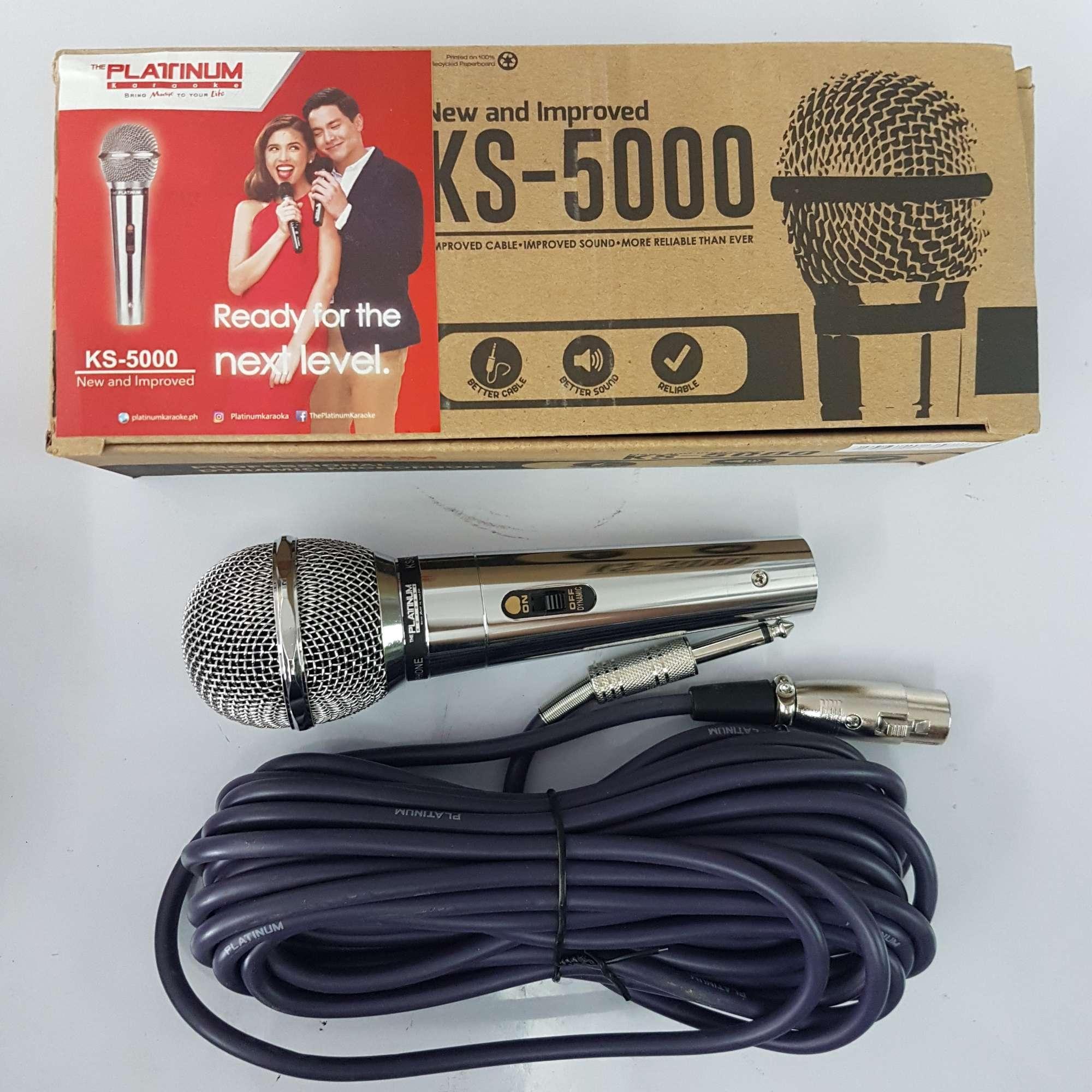 Platinum Wired Microphone W 8m Cord Ks 5000 Philippines Videoke Wiring