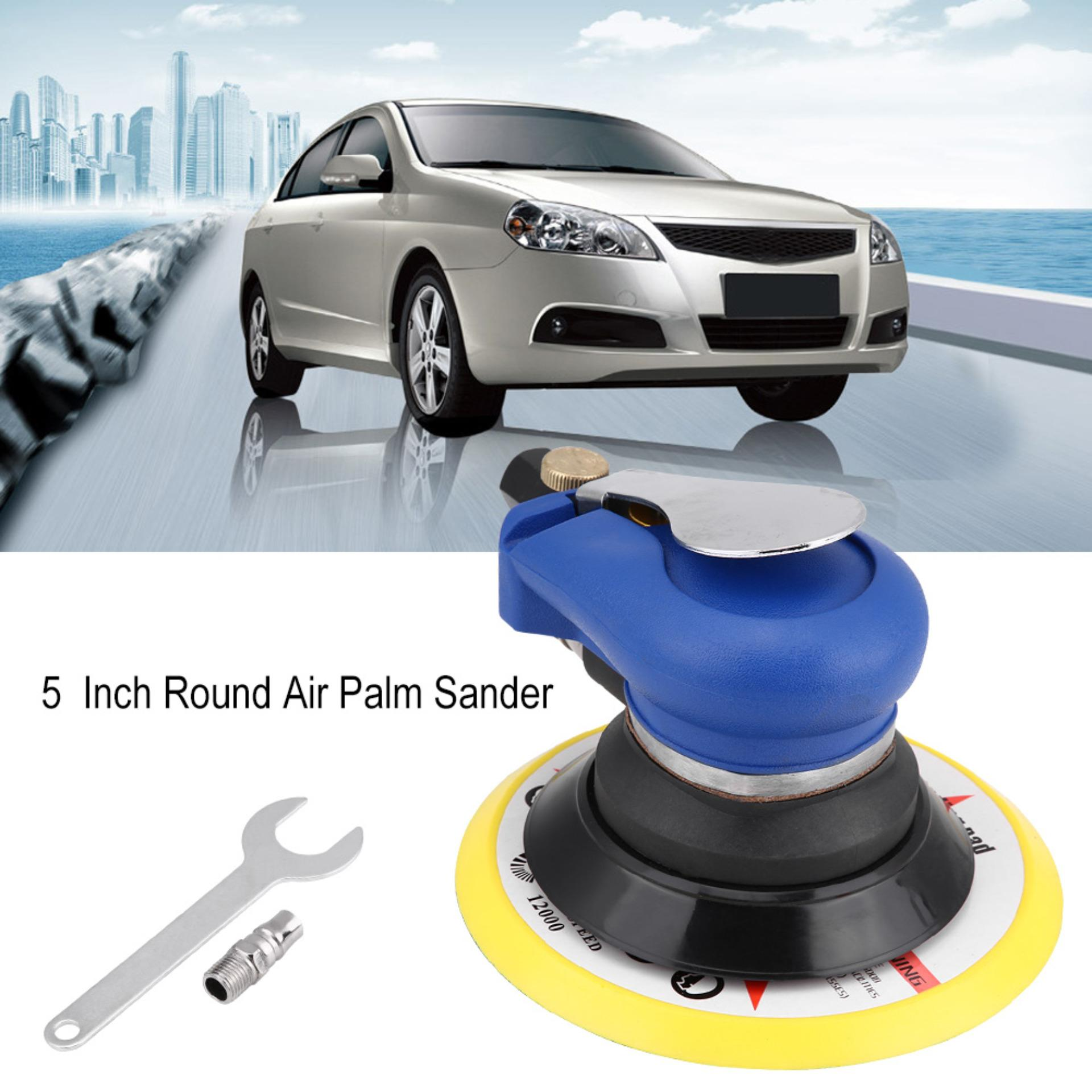 5 Inch Round Air Palm Random Orbital Sander 9000rpm Pneumatic Polisher Hand Sanding Tool - Intl By 1buycart.