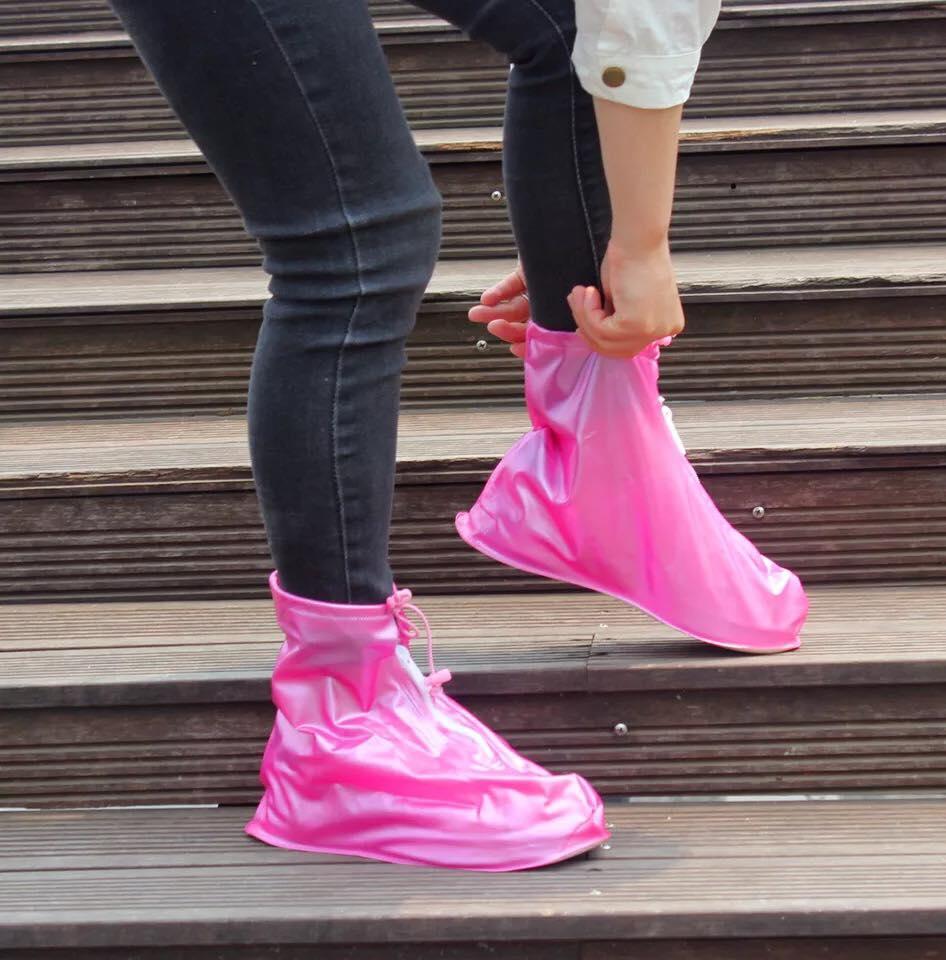 776999eaa82 Foldable Waterproof Flood Proof Rain Shoe Cover for Men and Women