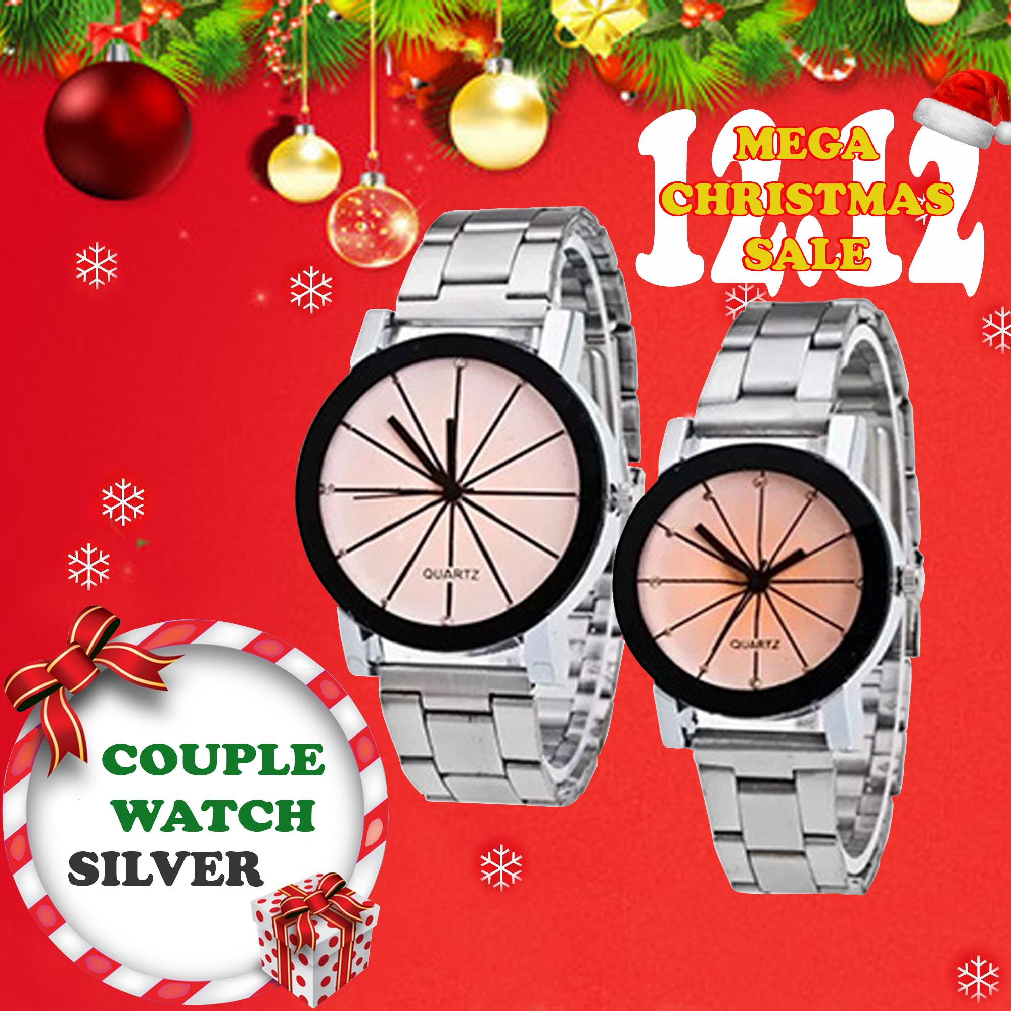 Couple Pair Stainless Watch (silver)