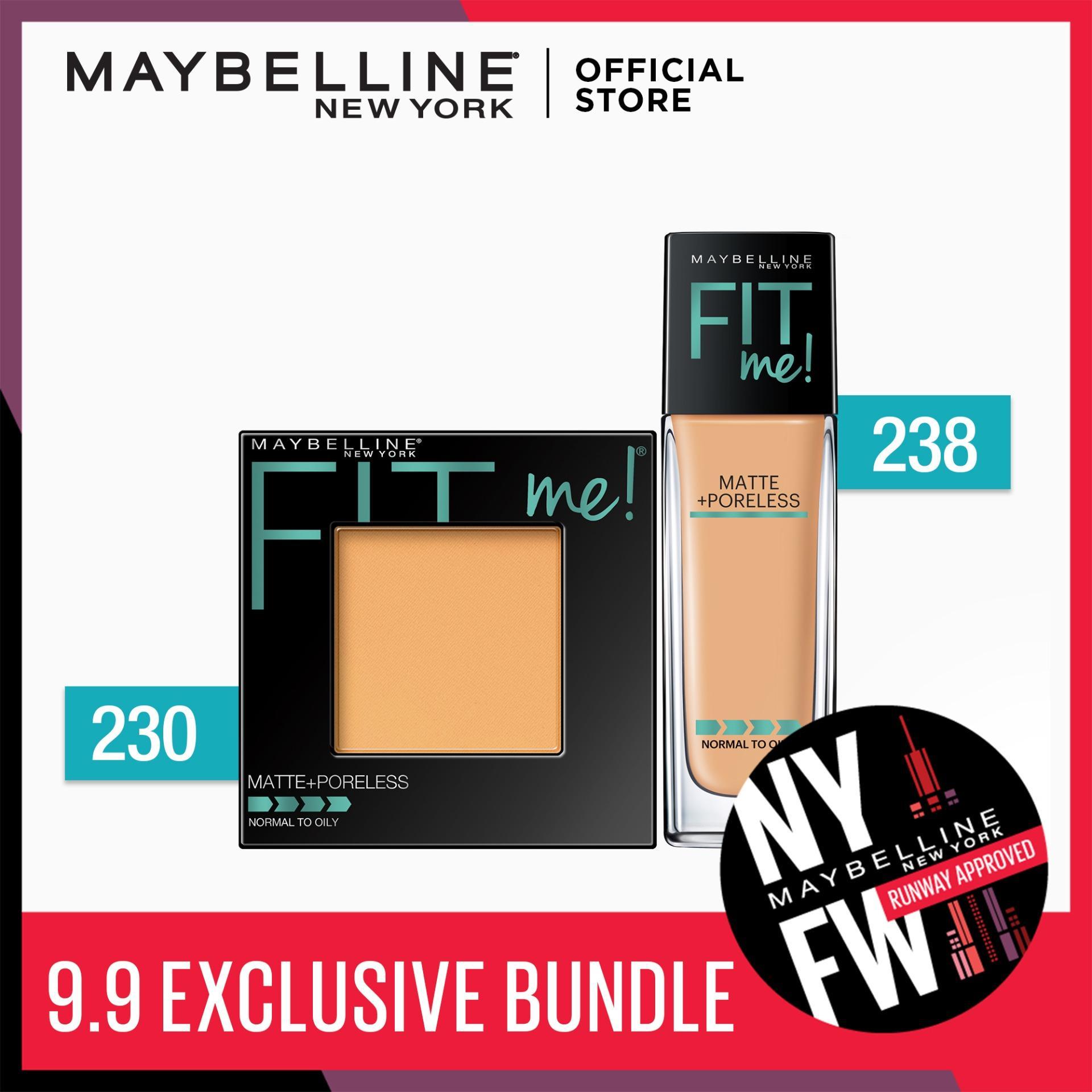 Maybelline Fit Me Foundation 238 Rich Tan + Fit Me Powder 230 Nat Buff [EXCLUSIVE BUNDLE] Philippines