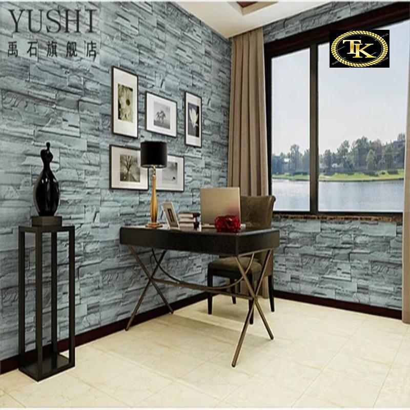 TK pvc Self adhesive Waterproof Wallpaper Fabric Safty Home Decor Wallcovering For Living Room Bedroom Background