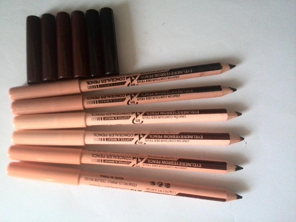 2 in 1 Eyeliner Eyebrow Pencil Contour Concealer Pencil (set of 6) Philippines