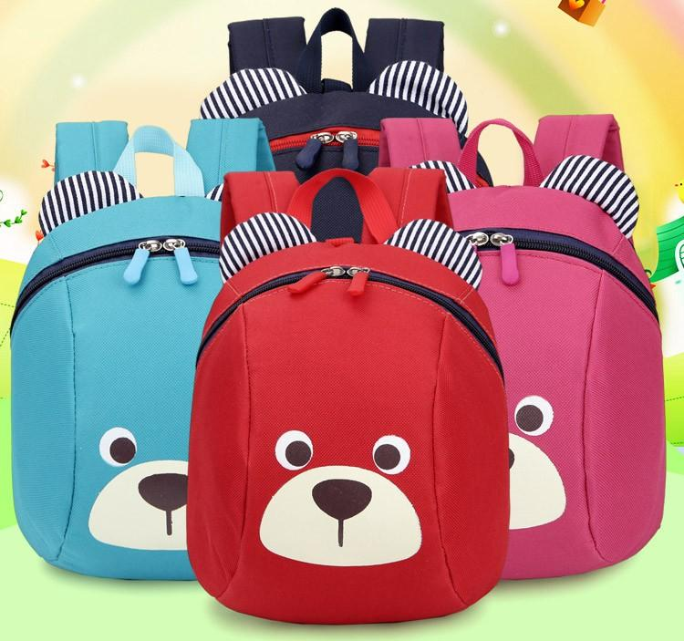 2018 School Backpack Anti-lost Kids Baby Bag Cute Animal Bear Pattern  Children Backpacks Kindergarten c1f6cdfed9