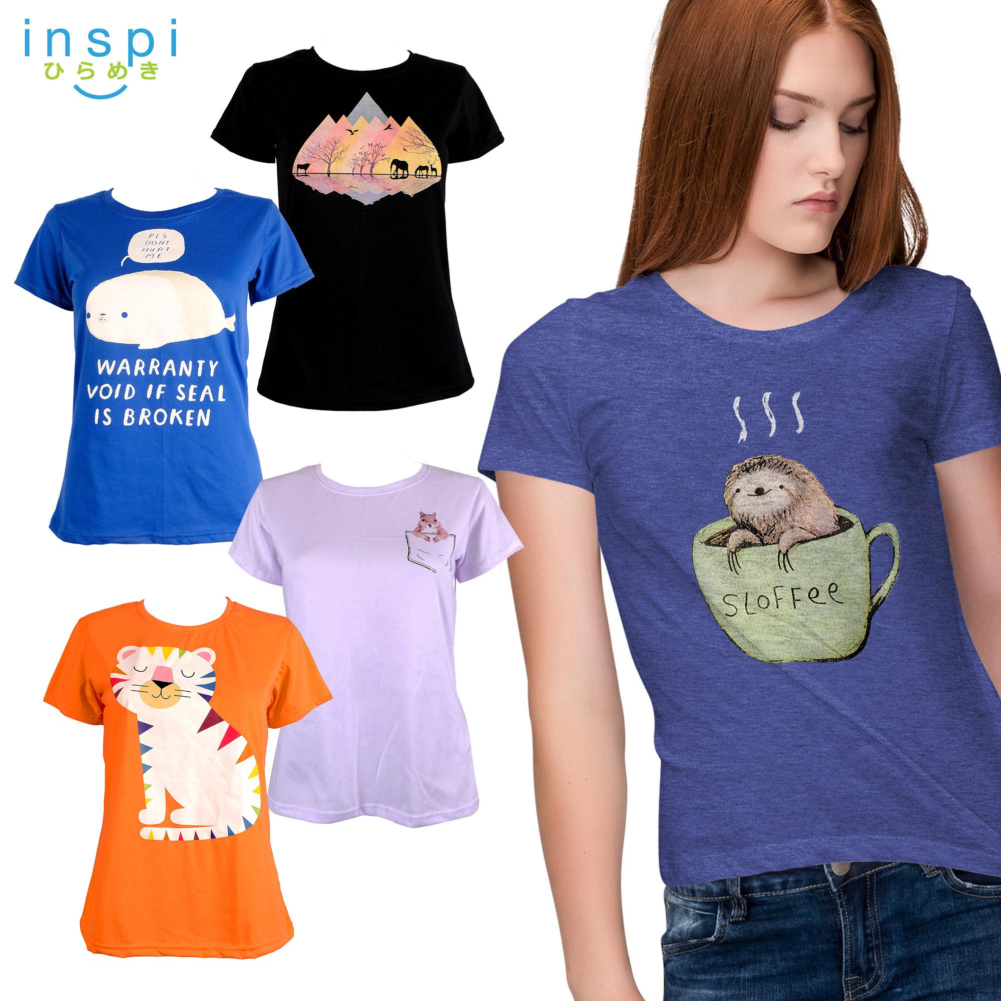 7539a3df9 INSPI Tees Ladies Pet Collection tshirt printed graphic tee Ladies t shirt shirts  women tshirts for