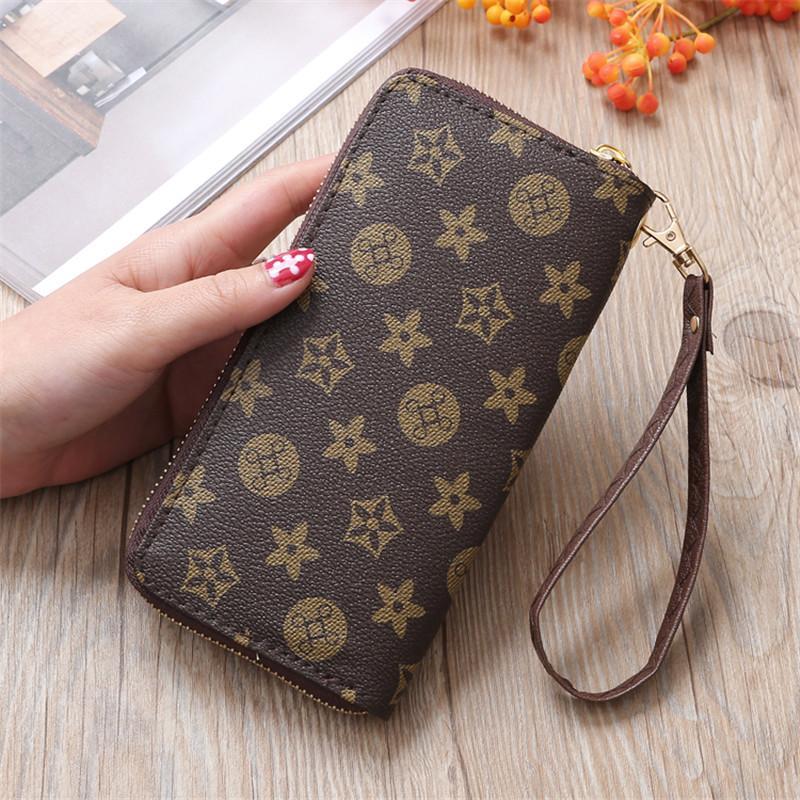 AMOG New Arrive Faux Leather Wallets Lady Long Wallet Phone Pouch Zipper Purse Women Clutch Purses