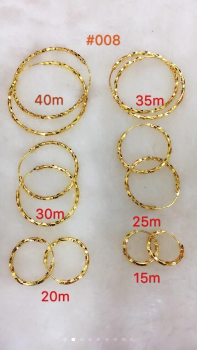 14k Bangkok gold Earings 4pair 139pesos
