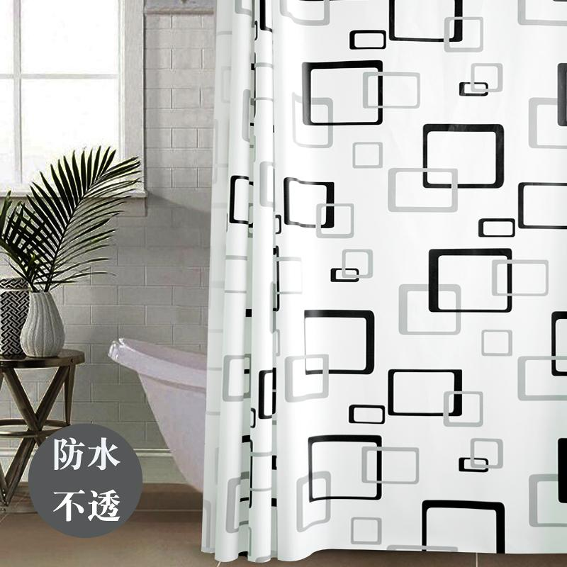 Bathroom Waterproof Non Transparent Shower Curtain Toilet Partition Moisture Proof Occlusion Insulated