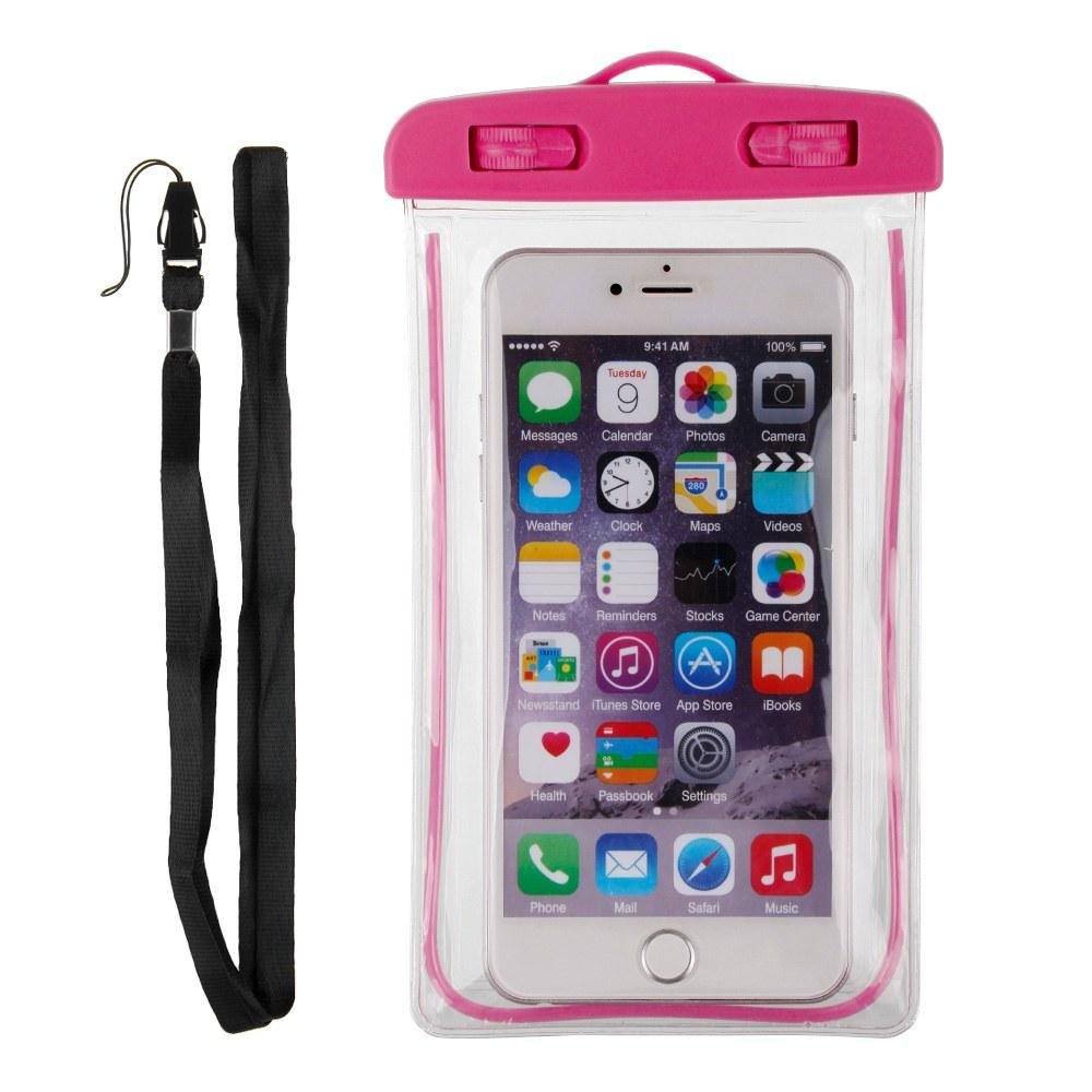 AMOG Glow in the Dark Luminous Waterproof phone Case Cover Underwater Dry Bag Pouch for iPhone